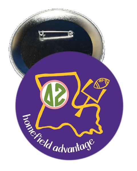 Delta Zeta LSU Homefield Advantage Gameday Button