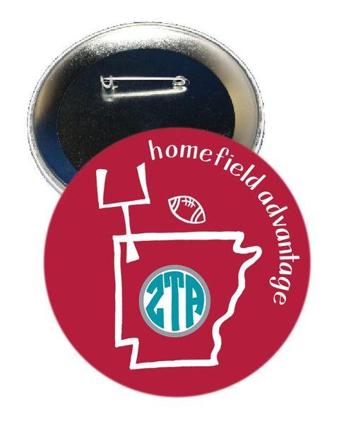 Zeta Tau Alpha Arkansas Homefield Advantage Gameday Button