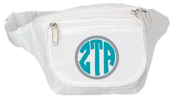 Zeta Tau Alpha Monogram Fanny Pack