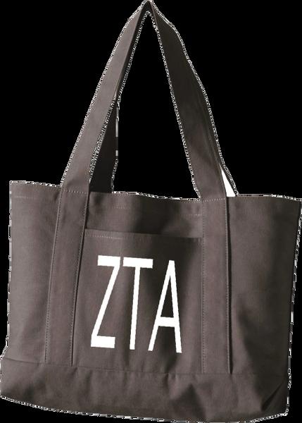 Zeta Tau Alpha Letters Canvas Tote Bag