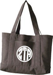 Zeta Tau Alpha Monogram Canvas Tote Bag