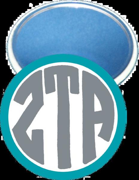 Zeta Tau Alpha Monogram Blue Mirror