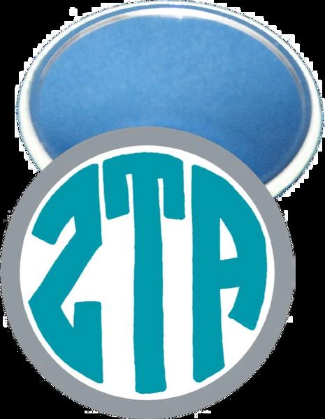 Zeta Tau Alpha Monogram Gray Mirror