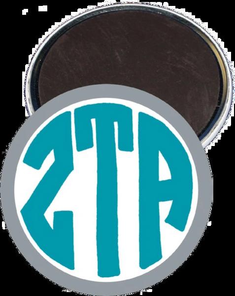 Zeta Tau Alpha Monogram Gray Magnet