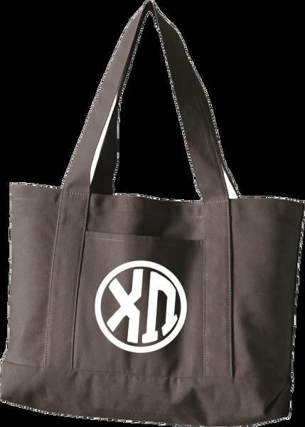 Chi Omega Monogram Canvas Tote Bag