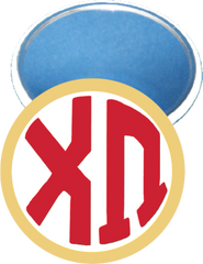 Chi Omega Monogram Yellow Mirror