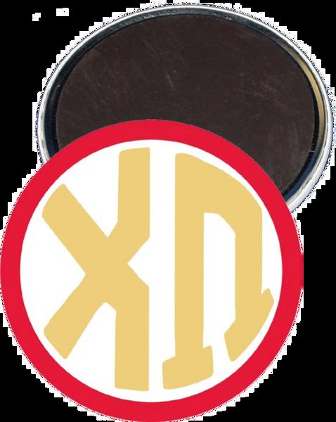 Chi Omega Monogram Red Magnet