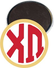 Chi Omega Monogram Yellow Magnet