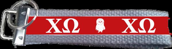 Chi Omega Logo Key Fob