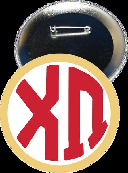 Chi Omega Monogram Yellow Button