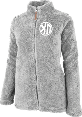 Chi Omega Fluffy Fleece Jacket
