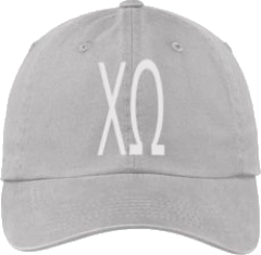 Chi Omega Gray Ball Cap