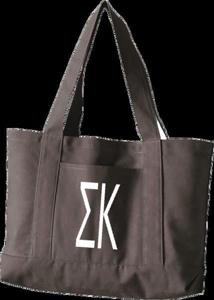 Sigma Kappa Letters Canvas Tote Bag