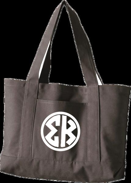 Sigma Kappa Monogram Canvas Tote Bag