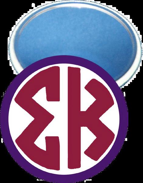 Sigma Kappa Monogram Purple Mirror