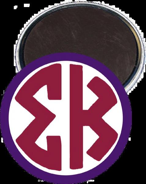 Sigma Kappa Monogram Purple Magnet