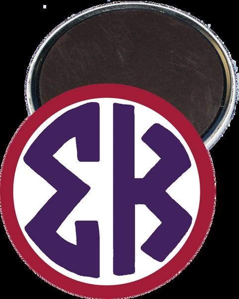 Sigma Kappa Monogram Red Magnet