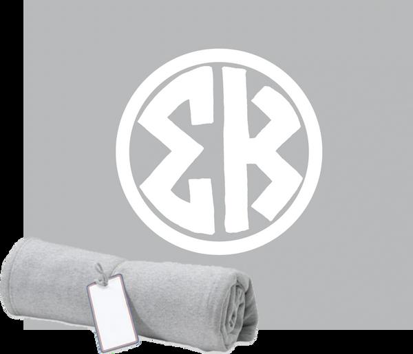 Sigma Kappa Monogram Sweatshirt Blanket