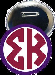 Sigma Kappa Monogram Purple Button