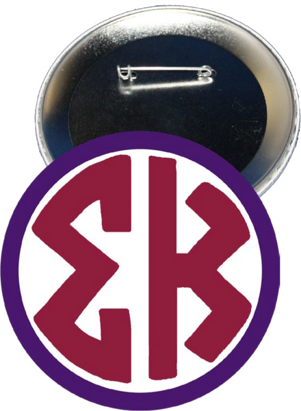 Sigma Kappa Monogram Purple Button