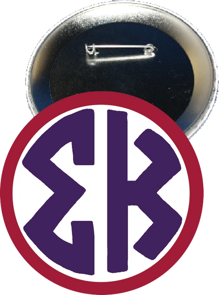 Sigma Kappa Monogram Red Button
