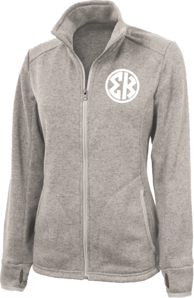 Sigma Kappa Monogram Heathered Fleece Jacket