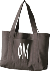 Phi Mu Letters Canvas Tote Bag