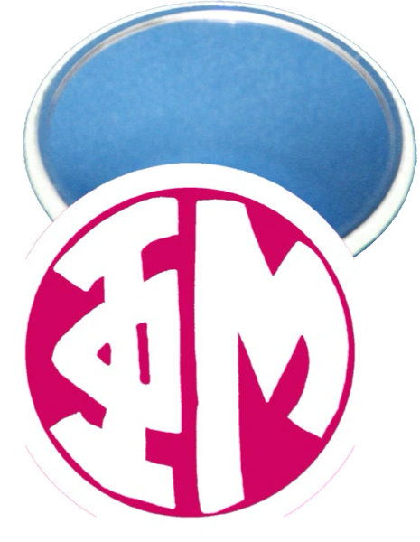 Phi Mu Monogram White Mirror