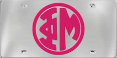 Phi Mu Aluminum Monogram License Plate