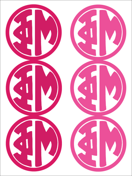 Phi Mu Monogram Sticker Sheet