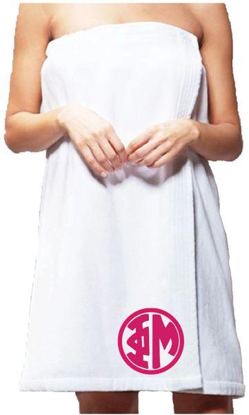 Phi Mu Monogram Towel Wrap
