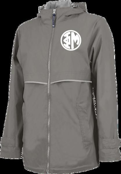 Phi Mu Monogram Rain Jacket