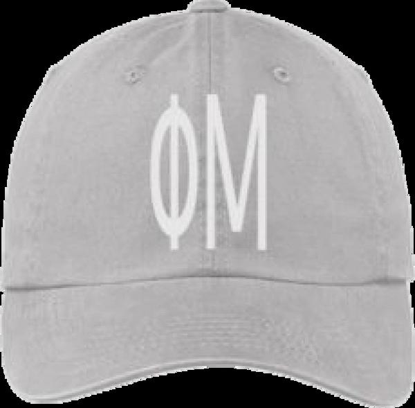 Phi Mu Gray Ball Cap