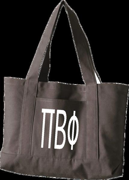Pi Beta Phi Letters Canvas Tote Bag