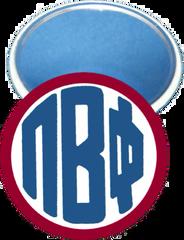 Pi Beta Phi Monogram Red Mirror