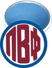 Pi Beta Phi Monogram Blue Mirror