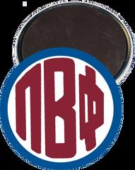 Pi Beta Phi Monogram Blue Magnet