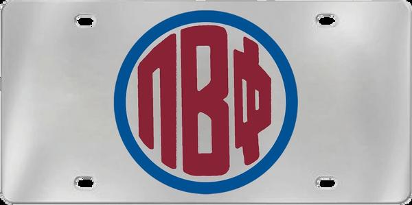 Pi Beta Phi Aluminum Monogram License Plate