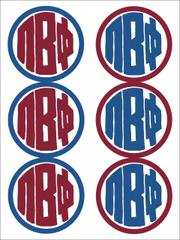 Pi Beta Phi Monogram Sticker Sheet
