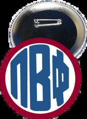 Pi Beta Phi Monogram Red Button