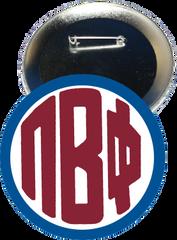 Pi Beta Phi Monogram Blue Button