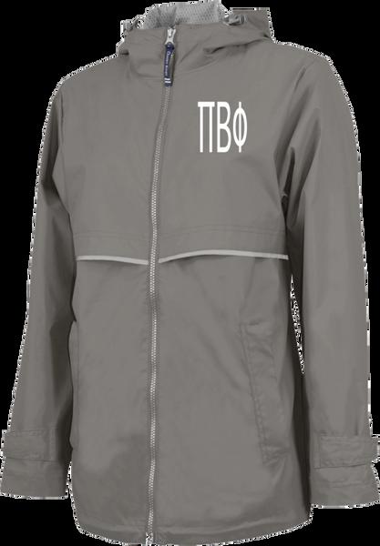 Pi Beta Phi Letters Rain Jacket