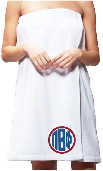 Pi Beta Phi Monogram Towel Wrap