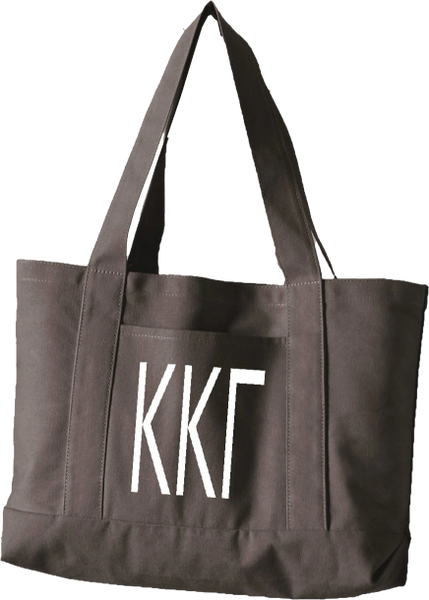 Kappa Kappa Gamma Letters Canvas Tote Bag