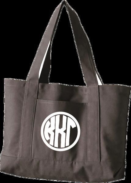 Kappa Kappa Gamma Monogram Canvas Tote Bag