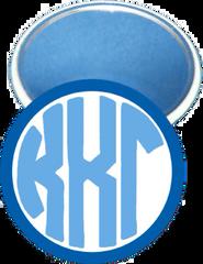Kappa Kappa Gamma Monogram Dark Blue Mirror
