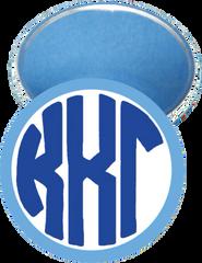 Kappa Kappa Gamma Monogram Light Blue Mirror