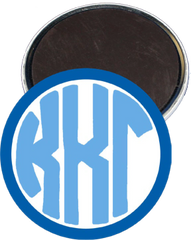 Kappa Kappa Gamma Monogram Dark Blue Magnet