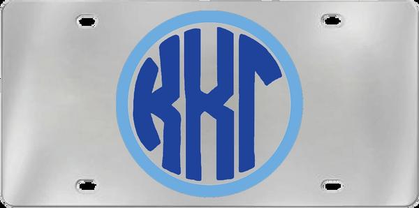 Kappa Kappa Gamma Aluminum Monogram License Plate