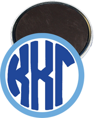 Kappa Kappa Gamma Monogram Light Blue Magnet